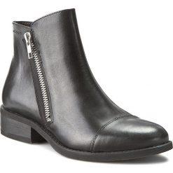 Botki VAGABOND - Cary 4220-301-20 Black. Czarne buty zimowe damskie marki Vagabond, z materiału, na obcasie. W wyprzedaży za 309,00 zł.
