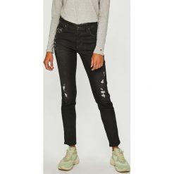 Diesel - Jeansy Babhila. Czarne jeansy damskie slim Diesel. W wyprzedaży za 749,90 zł.
