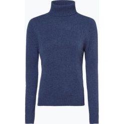 Franco Callegari - Damski sweter z wełny merino, niebieski. Zielone golfy damskie marki Franco Callegari, z napisami. Za 229,95 zł.