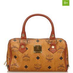 Torebki klasyczne damskie: Skórzana torebka w kolorze jasnobrązowym – 18 x 12 x 7 cm