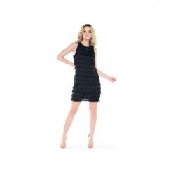 Sukienka z frędzlami Colette. Czarne sukienki balowe marki Kelly couronne, s. Za 149,00 zł.