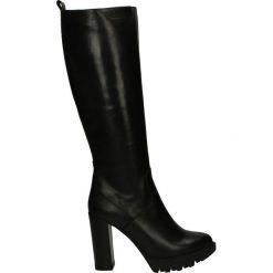 Buty zimowe damskie: Kozaki na platformie - ST894 VIT NER