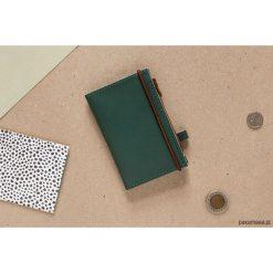 Portfele męskie: MIKRO / Green – portfel ze skóry