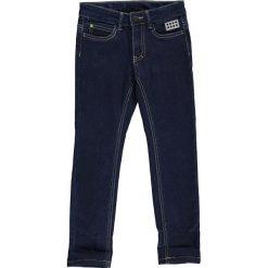 """Dżinsy """"Ping 606"""" w kolorze granatowym. Niebieskie spodnie chłopięce marki LEGO Wear, w paski, z materiału. W wyprzedaży za 92,95 zł."""