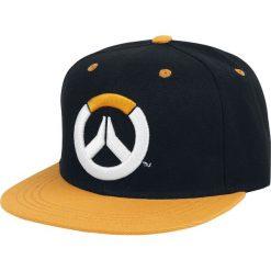 Overwatch Showdown Czapka Snapback czarny/pomarańczowy. Brązowe czapki z daszkiem damskie Overwatch, z aplikacjami, z tworzywa sztucznego. Za 79,90 zł.