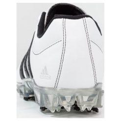 Adidas Golf ADIPURE FLEX Obuwie do golfa white/core black/silver metallic. Białe buty sportowe męskie adidas Golf, z materiału, na golfa. Za 449,00 zł.