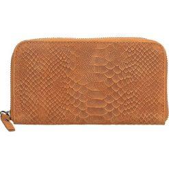 Portfele damskie: Skórzany portfel w kolorze jasnobrązowym – 20 x 11 x 3 cm