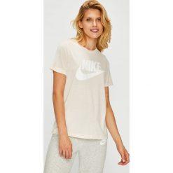 Nike Sportswear - Top. Szare topy damskie Nike Sportswear, l, z nadrukiem, z dzianiny, z okrągłym kołnierzem. W wyprzedaży za 119,90 zł.