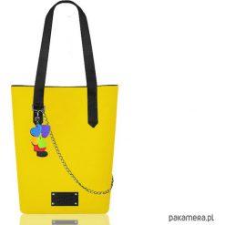 Torebki klasyczne damskie: Żółta torba z filcu