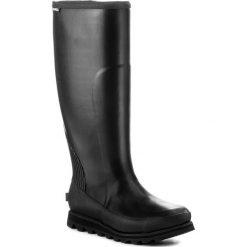 Kalosze SOREL - Joan Rain Tall NL2522 Black/Sea Salt 010. Czarne buty zimowe damskie Sorel, z gumy. W wyprzedaży za 379,00 zł.