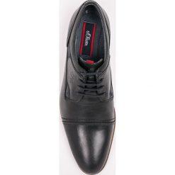 S. Oliver - Półbuty. Czarne buty wizytowe męskie S.Oliver, z materiału, na sznurówki. W wyprzedaży za 219,90 zł.