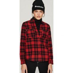 Bawełniana koszula w kratkę - Czerwony. Czerwone koszule damskie w kratkę marki Sinsay, l, z bawełny. Za 49,99 zł.