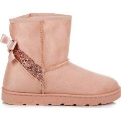 Futrzane śniegowce z brokatem MALLORY. Różowe buty zimowe damskie vices, z futra. Za 99,90 zł.