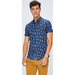 Medicine - Koszula Monumental. Szare koszule męskie na spinki marki S.Oliver, l, z bawełny, z włoskim kołnierzykiem, z długim rękawem. W wyprzedaży za 39,90 zł.