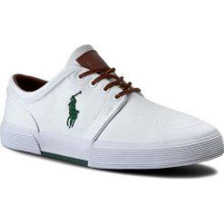 Tenisówki POLO RALPH LAUREN - Faxon Low-Ne A85 Y2164 C0225 A1000 White 816176909110. Białe tenisówki męskie Polo Ralph Lauren, z materiału, na sznurówki. W wyprzedaży za 319,00 zł.