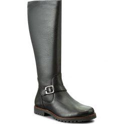 Oficerki CAPRICE - 9-25651-29 Black Nappa 022. Czarne buty zimowe damskie Caprice, ze skóry ekologicznej, przed kolano, na wysokim obcasie. W wyprzedaży za 349,00 zł.