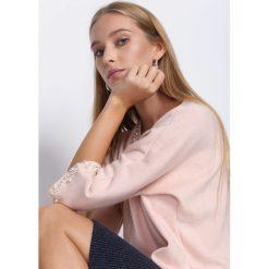 Bluzki damskie: Różowa Bluzka Beating Heart