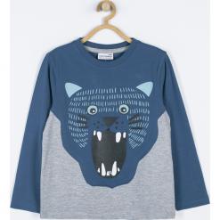 Koszulka. Niebieskie t-shirty chłopięce z długim rękawem WRAY, z aplikacjami, z bawełny. Za 49,90 zł.