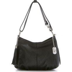 Torebki klasyczne damskie: Skórzana torebka w kolorze czarnym – 30 x 20 x 8 cm