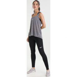 Nike Performance DRY TANK ELASTIKA  Koszulka sportowa gunsmoke/black/white. Czarne topy sportowe damskie marki Nike Performance, l, z materiału, outdoorowe. W wyprzedaży za 126,65 zł.