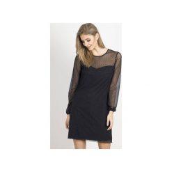Sukienka Dotty. Czarne długie sukienki marki Wow fashion, l, z wiskozy, z okrągłym kołnierzem, z długim rękawem, trapezowe. Za 299,00 zł.