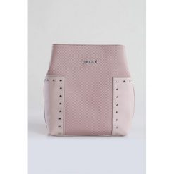 Torebka z nitami. Szare torebki klasyczne damskie marki Monnari, ze skóry, małe, z tłoczeniem. Za 87,60 zł.