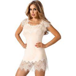 Koszule nocne i halki: Elegancka damska koszula nocna Sevilla Ecru
