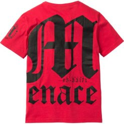 T-shirty męskie: T-shirt Slim Fit bonprix czerwony z nadrukiem