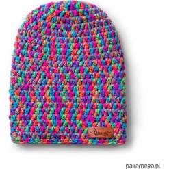 Czapka dziana KRAFF SEVEN WISHES handmade. Fioletowe czapki zimowe damskie Pakamera, z dzianiny. Za 109,00 zł.