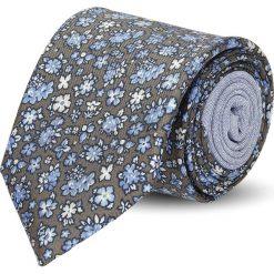 Krawaty męskie: krawat winman brąz classic 201