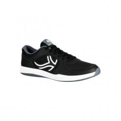 Buty tenisowe TS130 męskie na twardą nawierzchnię. Niebieskie buty do tenisa męskie marki ARTENGO, z gumy. Za 84,99 zł.