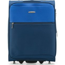 Walizka kabinowa V25-3S-241-99. Niebieskie walizki marki Wittchen, małe. Za 99,00 zł.