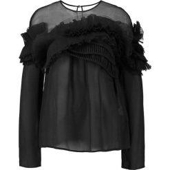 Miss Sixty CALDER  Bluzka black. Czarne bluzki damskie Miss Sixty, xs, z jedwabiu. W wyprzedaży za 503,40 zł.