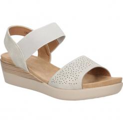 Sandały ażurowe na koturnie Casu LS06727P. Szare sandały damskie Casu, w ażurowe wzory, na koturnie. Za 69,99 zł.