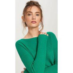 Swetry damskie: Sweter z lekkiej dzianiny – Zielony