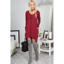 Sukienki: Sukienka oversize bordowa 1011