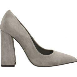 Czółenka INGRID. Szare buty ślubne damskie marki Gino Rossi, ze skóry, na wysokim obcasie, na obcasie. Za 329,90 zł.