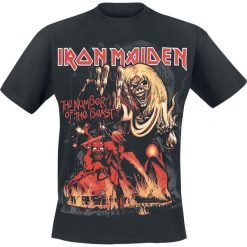 Iron Maiden Number Of The Beast Graphic T-Shirt czarny. Czarne t-shirty męskie z nadrukiem Iron Maiden, xl. Za 89,90 zł.