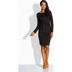 Sukienki: Elegancka dopasowana sukienka czarny