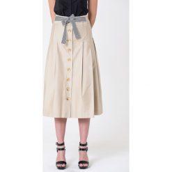 Długie spódnice: Spódnica w kolorze beżowym