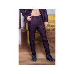 Jeansowe bojówki slim fit - Fioletowe. Fioletowe bojówki męskie marki Reserved, l, z bawełny. Za 299,00 zł.