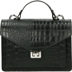 Torebka - 100-189-O C N. Szare torebki klasyczne damskie Venezia, ze skóry. Za 299,00 zł.
