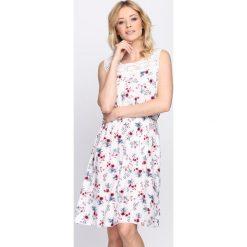 Sukienki: Biała Sukienka Rosa Decor