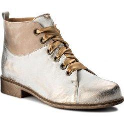 Botki MACIEJKA - 03545-04/00-5 Beż Na Złoto. Białe buty zimowe damskie Maciejka, ze skóry, na obcasie. W wyprzedaży za 219,00 zł.