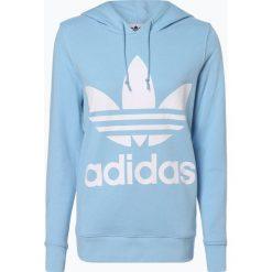 Adidas Originals - Damska bluza nierozpinana, niebieski. Szare bluzy sportowe damskie marki adidas Originals, na co dzień, z nadrukiem, z bawełny, casualowe, z okrągłym kołnierzem, proste. Za 309,95 zł.