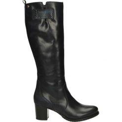 Kozaki ocieplane - Z830 P-P BLU. Czarne buty zimowe damskie Venezia, ze skóry. Za 249,00 zł.