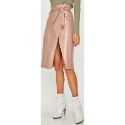 Answear - Spódnica. Szare spódniczki skórzane ANSWEAR, l, z podwyższonym stanem, midi, proste. Za 149,90 zł.