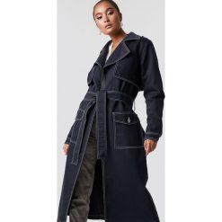Płaszcze damskie: NA-KD Trend Płaszcz jeansowy oversize - Blue