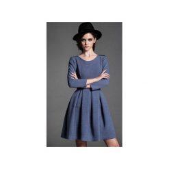 Sukienka Latte Blue. Niebieskie sukienki na komunię Kozacki Mops, do pracy, s, moro, biznesowe, rozkloszowane. Za 259,00 zł.