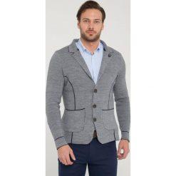 """Swetry rozpinane męskie: Kardigan """"Leith"""" w kolorze szarym"""